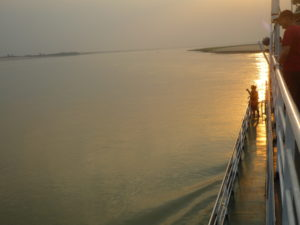 Sunset on The Ayeyarwaddy River