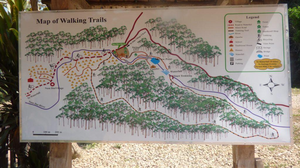 Luang Namtha Namdee waterfall tral
